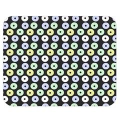 Eye Dots Grey Pastel Double Sided Flano Blanket (medium)