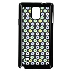 Eye Dots Grey Pastel Samsung Galaxy Note 4 Case (black)