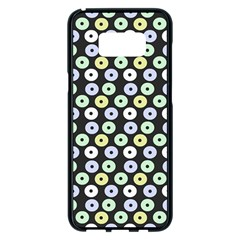Eye Dots Grey Pastel Samsung Galaxy S8 Plus Black Seamless Case