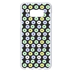 Eye Dots Grey Pastel Samsung Galaxy S8 Plus White Seamless Case