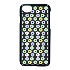 Eye Dots Grey Pastel Apple Iphone 8 Seamless Case (black)
