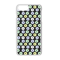 Eye Dots Grey Pastel Apple Iphone 8 Plus Seamless Case (white)