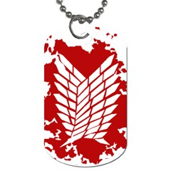 Attack On Titan Dog Tag (one Side) by Animestyle