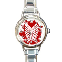 Attack On Titan Round Italian Charm Watch