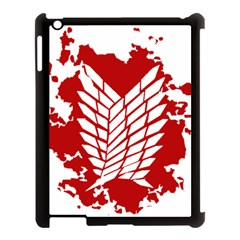 Attack On Titan Apple Ipad 3/4 Case (black)