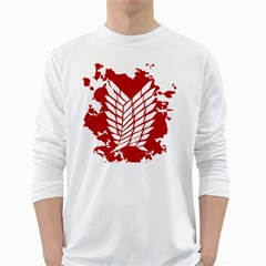 Attack On Titan White Long Sleeve T Shirts