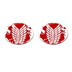 Attack On Titan Cufflinks (oval)