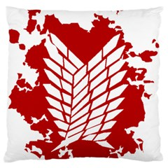 Attack On Titan Standard Flano Cushion Case (one Side)