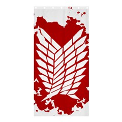 Attack On Titan Shower Curtain 36  X 72  (stall)