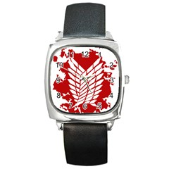 Attack On Titan Square Metal Watch