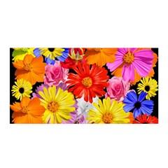 Assorted Petals Satin Wrap by girleyjanedesigns