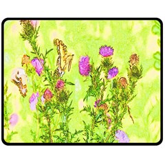 Butterflies Double Sided Fleece Blanket (medium)