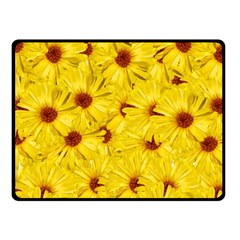 Yellow Flowers Fleece Blanket (small)