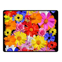 Assorted Petals Double Sided Fleece Blanket (small)