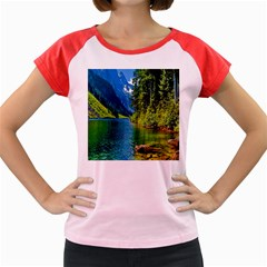 Beautiful Nature Lake Women s Cap Sleeve T Shirt