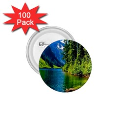 Beautiful Nature Lake 1 75  Buttons (100 Pack)