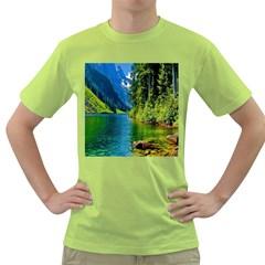Beautiful Nature Lake Green T Shirt