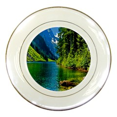 Beautiful Nature Lake Porcelain Plates