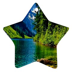 Beautiful Nature Lake Star Ornament (two Sides)
