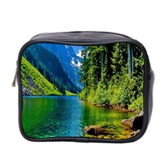 Beautiful Nature Lake Mini Toiletries Bag 2 Side