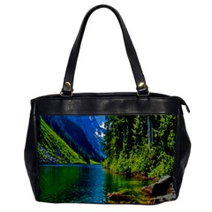 Beautiful Nature Lake Office Handbags