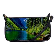 Beautiful Nature Lake Shoulder Clutch Bags