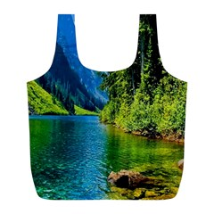 Beautiful Nature Lake Full Print Recycle Bags (l)