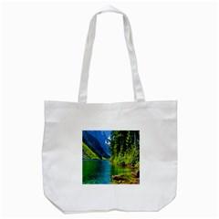 Beautiful Nature Lake Tote Bag (white)