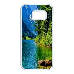 Beautiful Nature Lake Samsung Galaxy S7 White Seamless Case by Modern2018