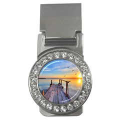 Sunset Lake Beautiful Nature Money Clips (cz)  by Modern2018