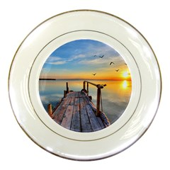 Sunset Lake Beautiful Nature Porcelain Plates