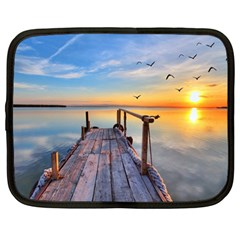 Sunset Lake Beautiful Nature Netbook Case (large)