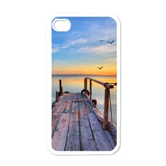 Sunset Lake Beautiful Nature Apple Iphone 4 Case (white)