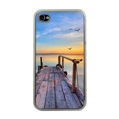 Sunset Lake Beautiful Nature Apple Iphone 4 Case (clear)