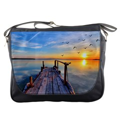 Sunset Lake Beautiful Nature Messenger Bags