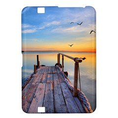 Sunset Lake Beautiful Nature Kindle Fire Hd 8 9