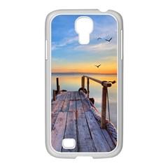 Sunset Lake Beautiful Nature Samsung Galaxy S4 I9500/ I9505 Case (white)
