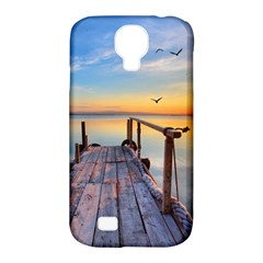 Sunset Lake Beautiful Nature Samsung Galaxy S4 Classic Hardshell Case (pc+silicone)