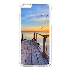 Sunset Lake Beautiful Nature Apple Iphone 6 Plus/6s Plus Enamel White Case by Modern2018
