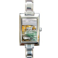 Coastal Landscape Rectangle Italian Charm Watch