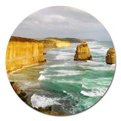 Coastal Landscape Magnet 5  (round)
