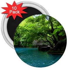 Backgrounds List Of Lake Background Beautiful Waterfalls Nature 3  Magnets (10 Pack)