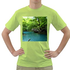 Backgrounds List Of Lake Background Beautiful Waterfalls Nature Green T Shirt