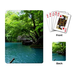 Backgrounds List Of Lake Background Beautiful Waterfalls Nature Playing Card