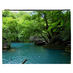 Backgrounds List Of Lake Background Beautiful Waterfalls Nature Cosmetic Bag (xxxl)
