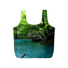 Backgrounds List Of Lake Background Beautiful Waterfalls Nature Full Print Recycle Bags (s)