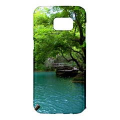 Backgrounds List Of Lake Background Beautiful Waterfalls Nature Samsung Galaxy S7 Edge Hardshell Case