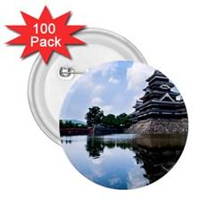 Beautiful Pagoda On Lake Nature Wallpaper 2 25  Buttons (100 Pack)