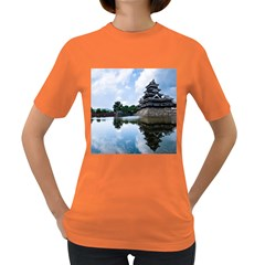 Beautiful Pagoda On Lake Nature Wallpaper Women s Dark T Shirt
