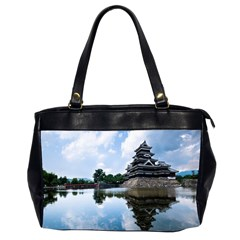 Beautiful Pagoda On Lake Nature Wallpaper Office Handbags (2 Sides)